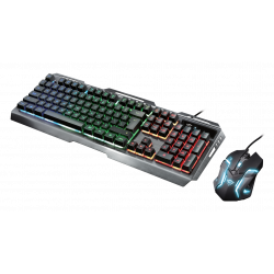 KIT COMBO TECLADO-MOUSE GAMER TRUST GXT845 TURAL (22460)